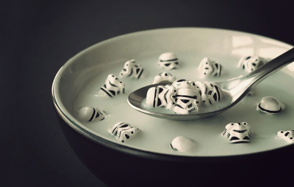 wallpaper milk star wars spoon stormtroopers cereal images for