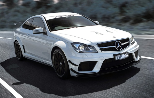 Picture Machine, White, Car, Car, Beautiful, Mercedes Benz, AMG, Wallpapers, Sports, Beautiful, Black Series, AMG, C …