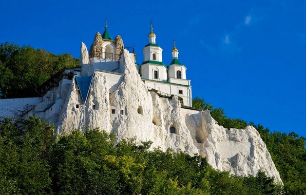 Picture the city, photo, Cathedral, temple, Ukraine, the monastery, Svyatogorsk Lavra