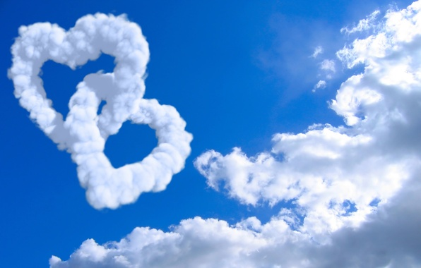 Picture the sky, clouds, creative, mood, mood, landscapes, heart, heart, cloud, hearts, heart