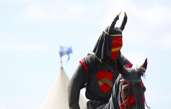 Picture horse, armor, warrior, helmet, knight