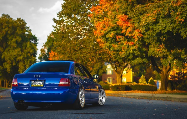Picture Audi, Audi, blue, blue