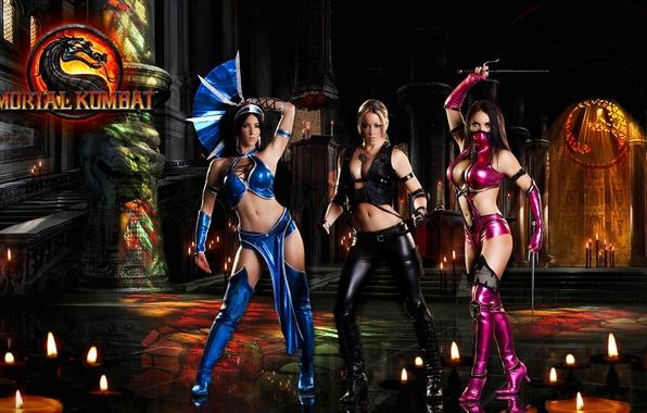Picture Mortal Kombat, Kitana, Mileena, Sonya Blade