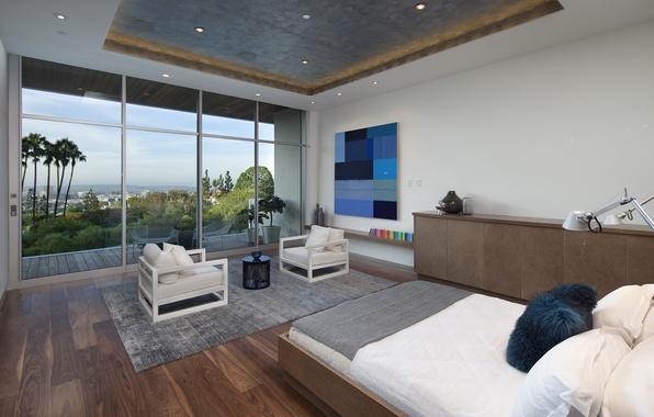 Picture design, house, style, room, Villa, interior, bedroom, terrace