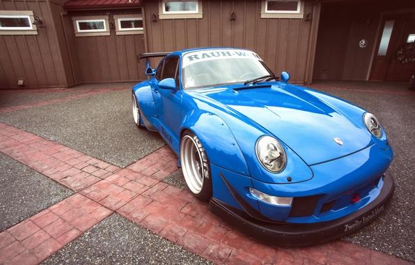 Picture blue, 911, Porsche, Porsche, blue, race, racing
