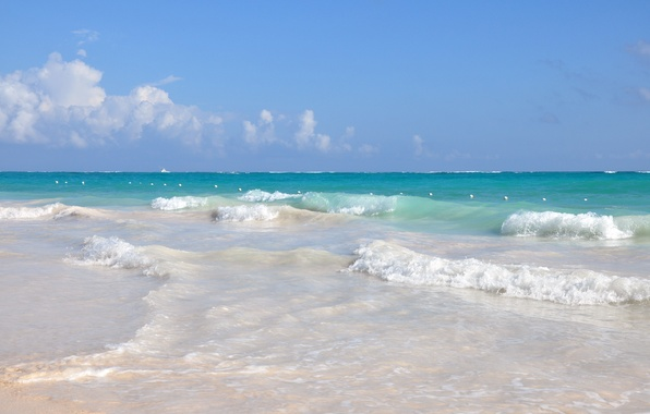 Picture sand, sea, wave, beach, water, the ocean, stay, relax, resort, Dominican Republic