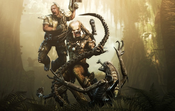 Picture battle, Stranger, Predator, Aliens versus Predator