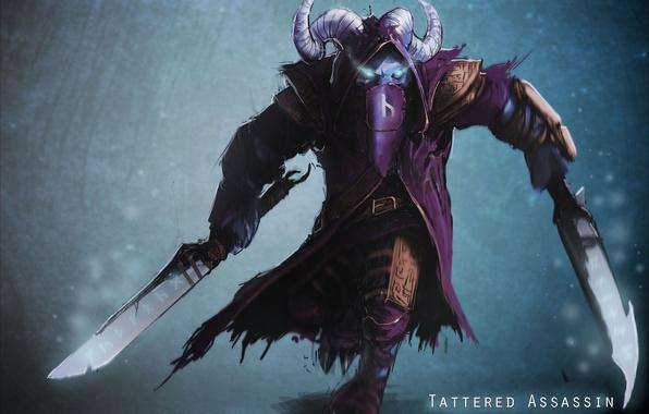 wallpaper art swords dota 2 rikimaru horns stealth assassin