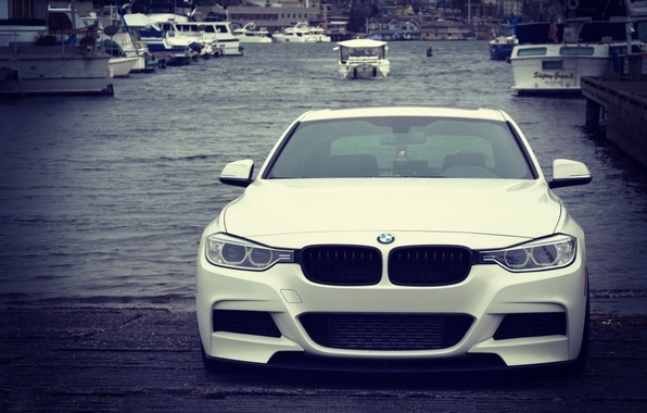 Picture lights, BMW, white, front, stance, f30