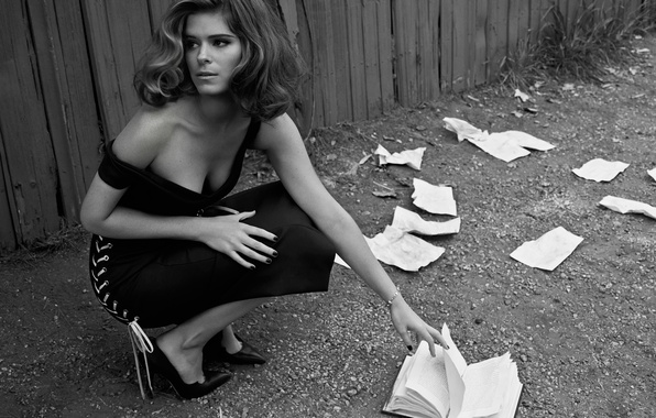 Picture the wind, dress, neckline, book, page, Kate Mara, Yahoo Style