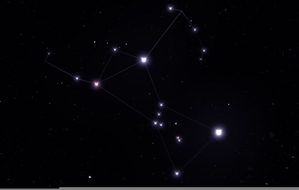 Picture space, stars, constellation, Orion