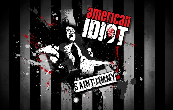 Picture music, punk rock, alternative rock, Green Day, St. Jimmy, American Idiot