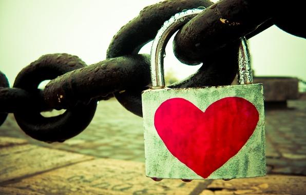 Picture macro, love, castle, heart, chain, love, feeling