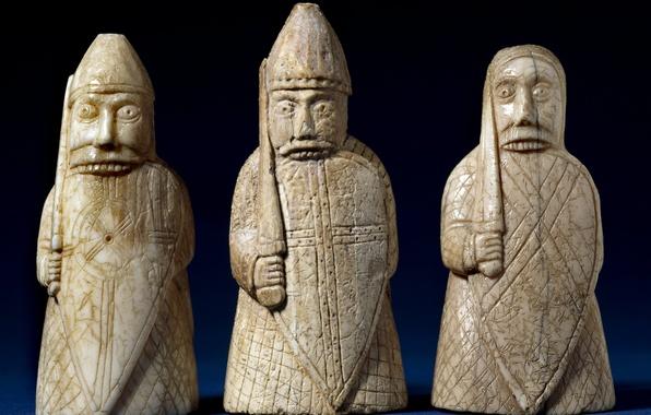 Picture space, chess, bones, Board, sculpture, figure, chess, it, ancient, ancient, chess, miniature, chess, it, century., …