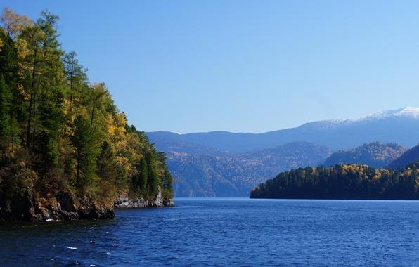 Picture mountains, Lake, the Altai mountains, Teletskoye lake