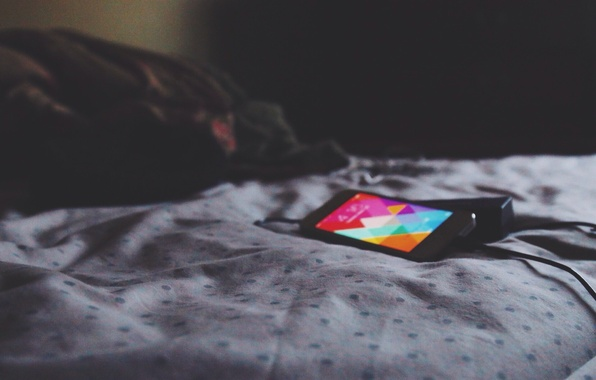 Picture sheet, Wallpaper, iPhone, bed, screen, phone charger