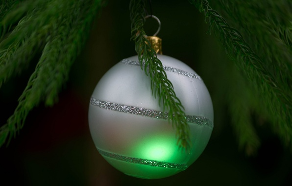 Picture toy, tree, new year, ball, Christmas, branch, decoration