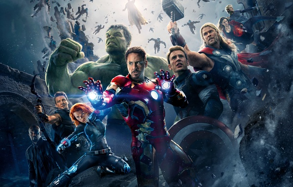 Picture Scarlett Johansson, Heroes, Hulk, Iron Man, The, Captain America, Thor, Black Widow, Robert Downey Jr., …