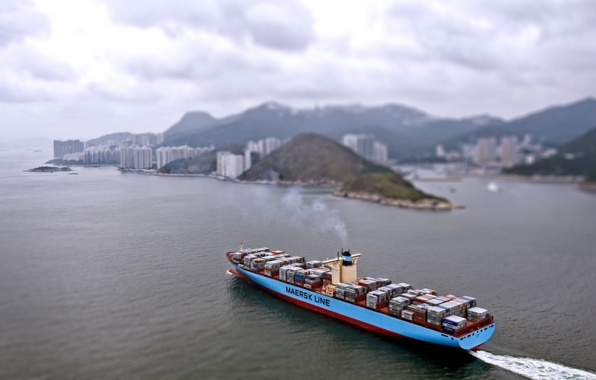 Picture the city, Sea, Day, The ship, The view from the top, A container ship, Cargo, ...
