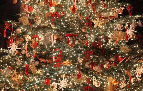 Picture holiday, toys, tree, new year, Christmas, decoration