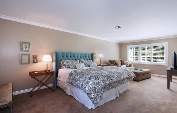 Picture photo, Design, Lamp, Bed, Interior, Bedroom