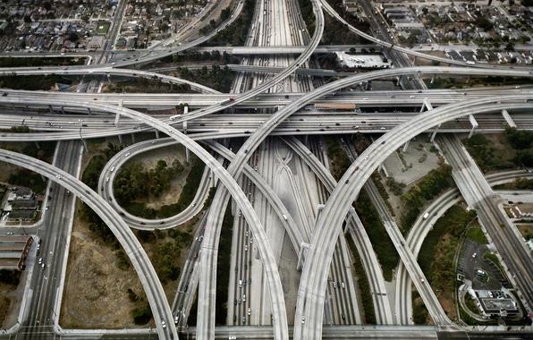 Picture road, machine, bridge, the way, city, the city, road, interchange, node, America, bridges, USA, bridge, …