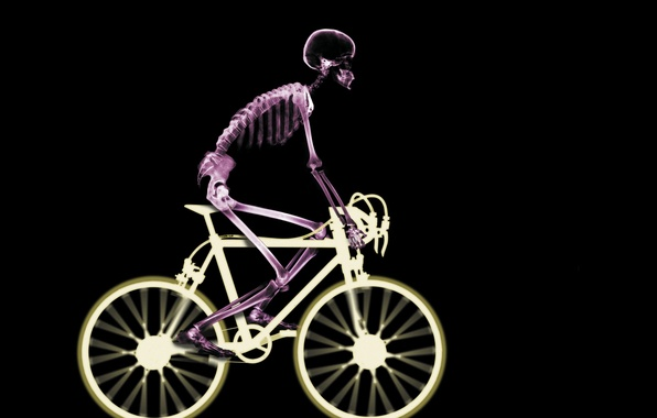 Picture bike, skeleton, x-ray