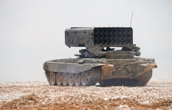Picture system, heavy, TOS-1, Buratino, flamethrower