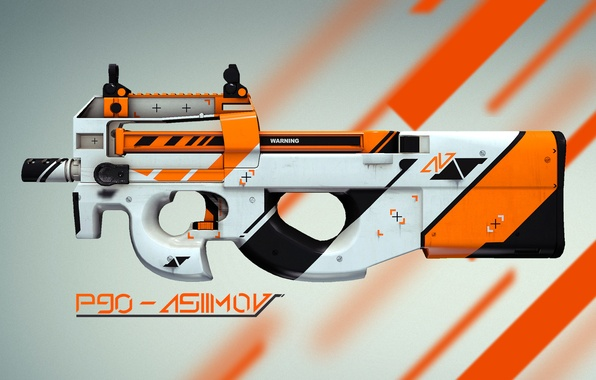 Picture counter strike, global offensive, skin, cs:go, P90, asiimov