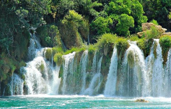 Picture waterfalls, Croatia, national Park, Plitvice lakes, Croatia Plitvice Lakes National Park waterfalls