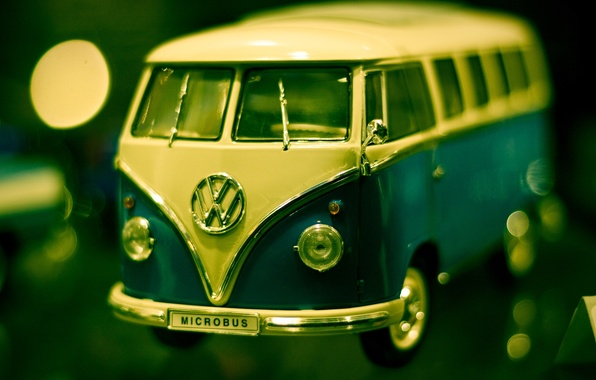 Picture macro, photo, background, Wallpaper, toy, Volkswagen, machine, minibus, Transporter