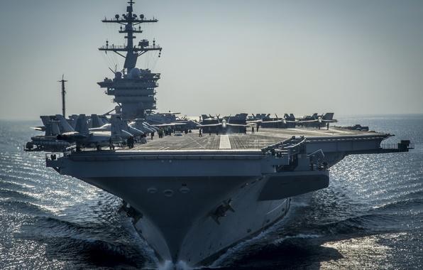 "Photo wallpaper the carrier, USS, type ""Nimitz"", Carl Vinson, (CVN-70)"