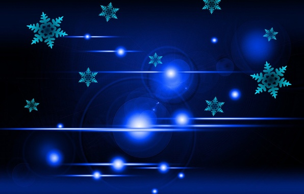 Picture light, snowflakes, background, bokeh