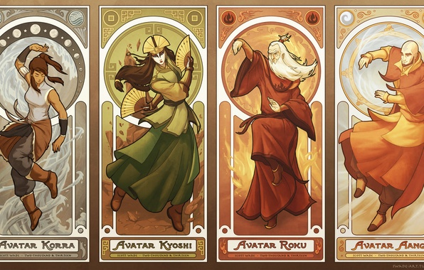 Wallpaper Water Fire Earth The Air Avatar Avatar Korra Times Aang The Legend Of Korra