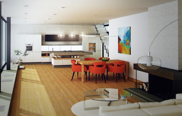 Picture design, style, room, Villa, interior