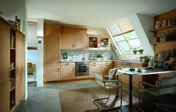Wallpaper Windows, Chair, Kitchen, Cupboard Images For