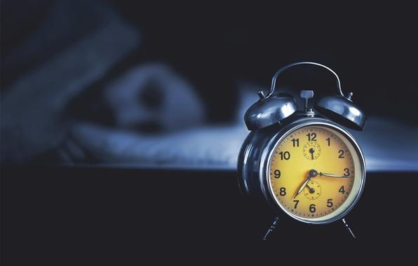 Picture yellow, retro, sleeping, Clock