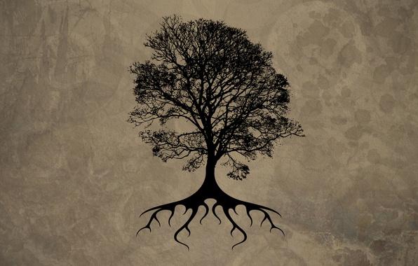 Picture sheet, tree, black