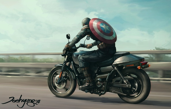 Picture Art, Marvel, Captain America, Captain America, JeeHyung lee