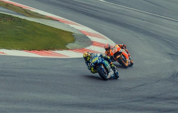 Picture Honda, Yamaha, MotoGP, Valentino Rossi, Silverstone, Marc Marquez