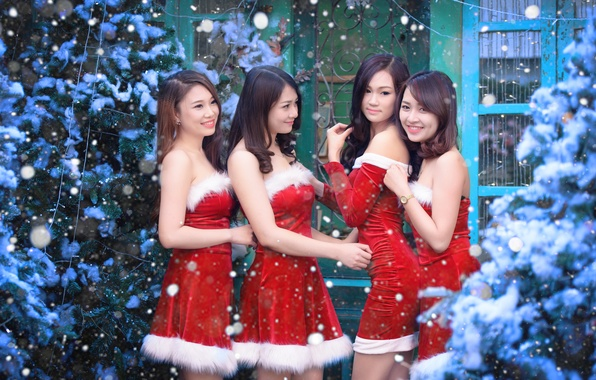 Picture girls, holiday, Asian girls