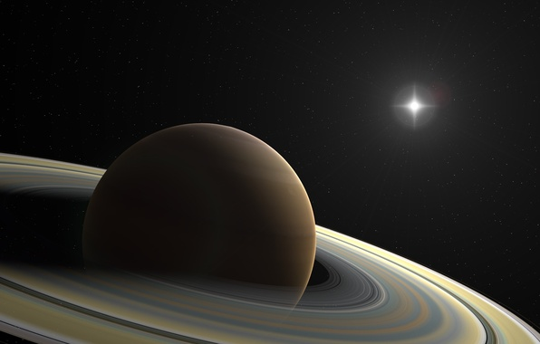 Picture star, planet, ring, stars, Saturn