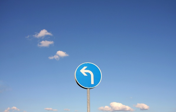 Photo wallpaper the sky, sign, turn