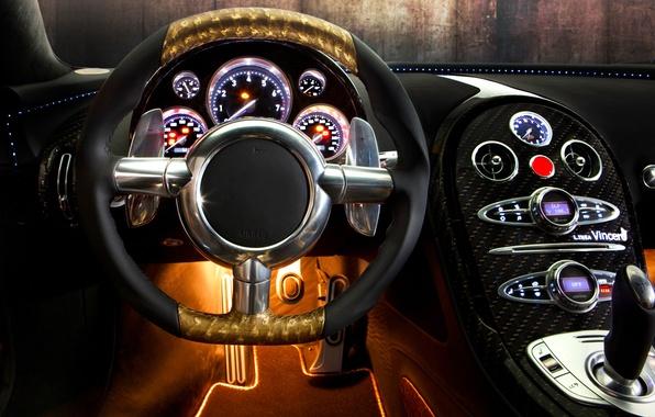 Picture auto, design, panel, devices, the wheel, sports car, salon, Mansory, Bugatti Veyron 16.4 LINEA Vincero …