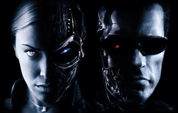 Picture Girl, Action, Fantasy, Kristanna Loki, Robot, the, Wallpaper, Terminator, Boy, Arnold Schwarzenegger, Sci-Fi, Warriors, Warner …