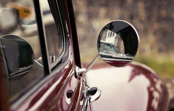 Picture car, machine, macro, red, background, Wallpaper, mirror, wallpaper, car, different, widescreen, background, full screen, HD …