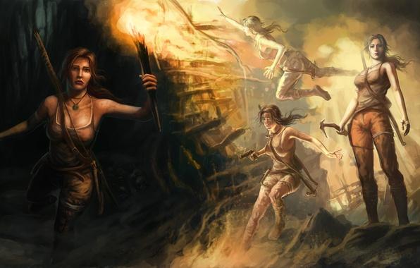 Picture girl, art, Tomb Raider, Lara Croft, Lara Croft