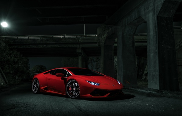 Picture Lamborghini, Dark, Red, V10, Supercar, Exotic, Huracan, Ligth, LP640-4