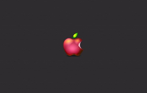 Picture grey, apple, minimalism, Apple