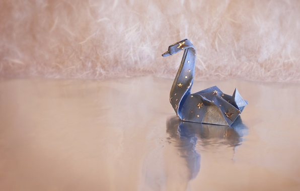 Picture background, Swan, origami